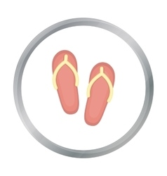 Slippers icon of for web and vector image