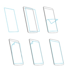 smart phone screen protector vector image