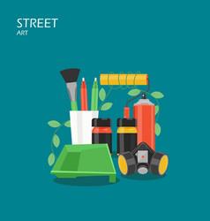 street art flat style design vector image