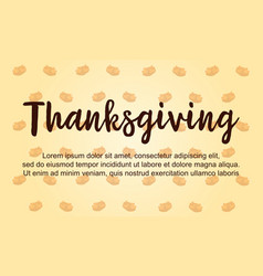 Thanksgiving theme greeting card collection vector