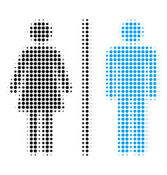 toilet persons halftone icon vector image
