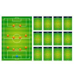 top best popular football soccer green fields vector image