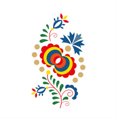 traditional folk ornament and pattern floral vector image