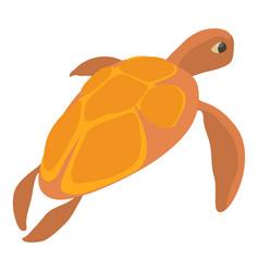 Turtle icon cartoon style vector