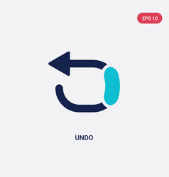 Two color undo icon from geometry concept vector