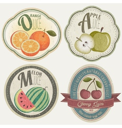 Vintage Label Collection with Fruit vector