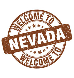 Welcome to nevada brown round vintage stamp vector