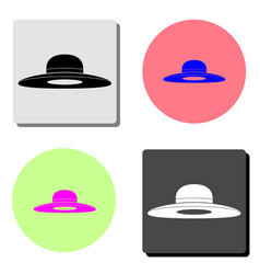 woman hat flat icon vector image