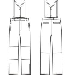 Work pants vector image