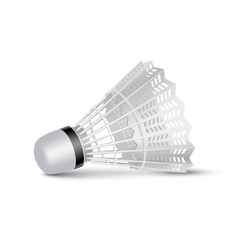 Badminton Shuttlecock Isolated on White vector image