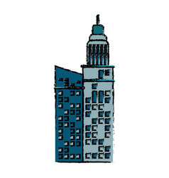 building facade construction architecture icon vector image vector image