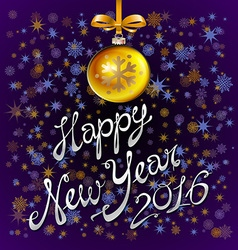 Happy New Year 2016 colorful greeting card with vector image vector image