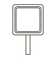 Road sign icon outline style vector image vector image