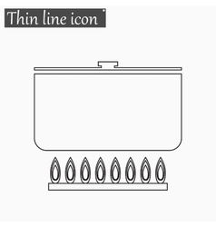 soup icon Style thin line vector image