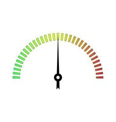 template meter with color scale vector image vector image
