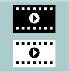 black and white cinematographic ribbon icon vector image vector image