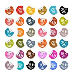 Colorful Discount Stickers Labels Set vector image vector image