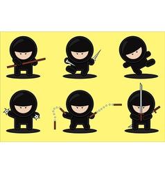 gang of ninjas vector image vector image
