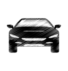 hand drawing automobile car icon design vector image