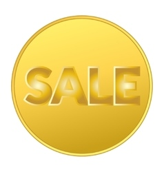 SALE COIN GOLD vector image