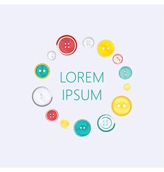 Logo with Circle of Sewing Buttons vector image