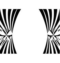 black and white curtains on a white background vector image