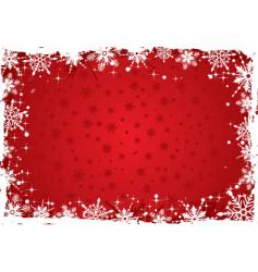 Christmas background boarder vector image vector image