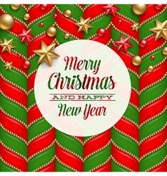 Christmas holidays greetings vector image