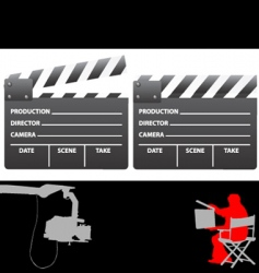 clapboard and director vector image