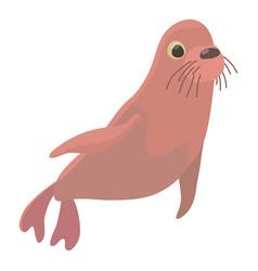 fur seal icon cartoon style vector image