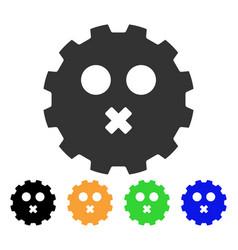 mute smiley gear icon vector image