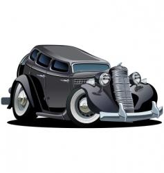 retro cartoon retro car vector image vector image