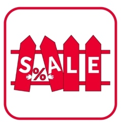 sale fence sign vector image