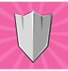 Shining shield vector image