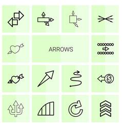 14 arrows icons vector