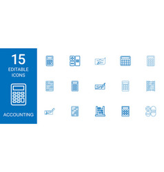 15 accounting icons vector