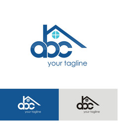 Abc home logo vector