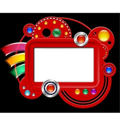 Abstract interface with screen and buttons vector image