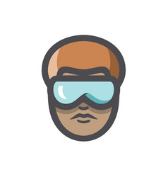 african american men with glasses cartoon vector image