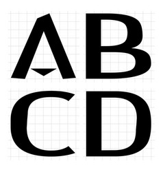 Alphabet development abcd vector