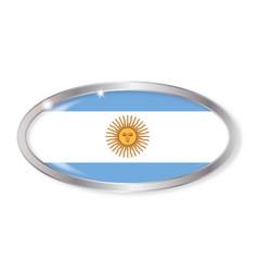 Argentina flag oval button vector