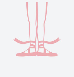 ballerina feet in pointe shoes first ballet vector image