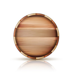 barrel wooden sign 3d icon set isolated on vector image