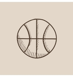 Basketball ball sketch icon vector image