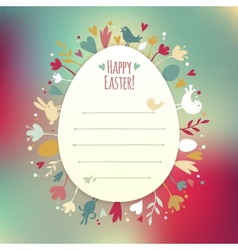 beautiful instagram easter card vector image
