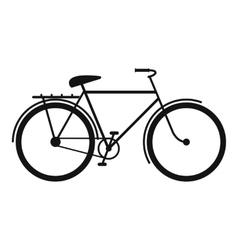 Bicycle black simple icon vector image