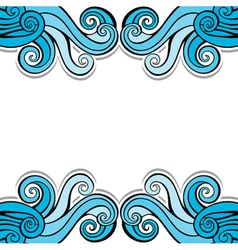 Blue abstract swirl background pattern vector image