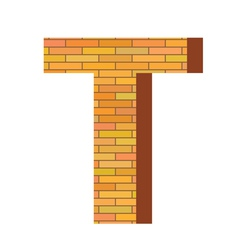 Brick letter T vector