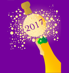 bubbly new year 2017 vector image
