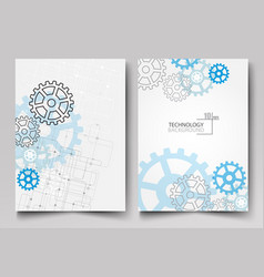 Business cards design background for technology vector
